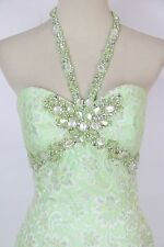 New Jovani Formal Cruise Homecoming $250 Dress Size 0 Prom Lt Green Club Halter