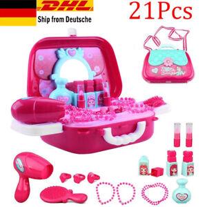 Kinder Schminkset kinderfön Rollenspiel Spielzeug Kosmetikkoffer &Vielen Zubehör