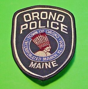 "ORONO  MAINE  ME  INCORPORATED 1806  POLICE PATCH  5 1/4""  FREE SHIPPING!!!"
