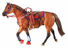 Breyer New Western Riding Set 2051 Saddle Bridle Traditional Hot Colors