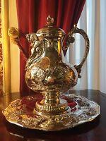 Teiera con piatto Teapot with plate Raddi Renato Firenze Argento Silver 800