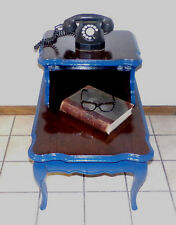 Upcycled Vintage Two-Tier Step Table Telephone / Entryway Table / Side Table