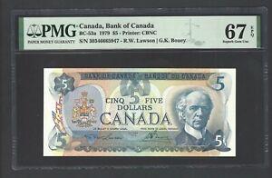 Canada 5 Dollars 1979 BC-53a Uncirculated Graded 67