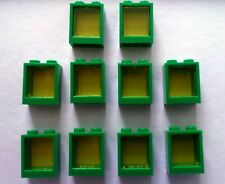 LEGO Bau- & Konstruktionsspielzeug Baukästen & Konstruktion LEGO Basic 2x 3856 Fenster-Laden Fenster-Luken grün Haus-Ersatzteile City