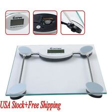 Electronic LCD Digital Bathroom Body Weight Scale Tempered Glass with Battery US