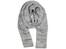 2016 NWT WOMENS BRIXTON DAKOTA SCARF $52 one size heather grey cable knit