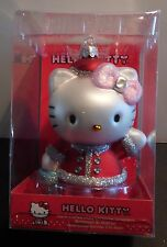 Hello Kitty Christmas Ornament Red Santa Suit NIB 5 Inches tall