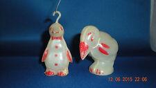 Antique Ornaments Parrot and Penguin