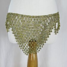 BRASS Belt VINTAGE Floral Bells Belly Dance Tribal Pro Costume Sexy Chastity