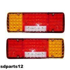 2 X 12v Led Feux Lampes Arrieres Camion Remorque Fourgon Caravane Camper *92 Led