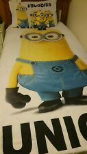 Despicable Me 'Unique' Single Doona Cover and matching pillow case & Soft Toy