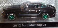 2012 FORD MUSTANG GT GREENLIGHT Black Bandit Series # 7  GREEN MACHINE #06 of 75
