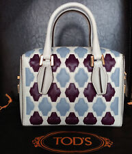 TOD'S Women's 'Mini D-Cube – Bauletto' Small Bowler Bag, MSRP $2,425.00 Italy