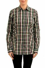 Dsquared2 Multi-Color Checkered Long Sleeve Women's Button Down Shirt US M IT 42