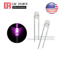 100pcs 3mm Transparent Led Water Clear Purple/UV Light Diodes Round Ultra Violet