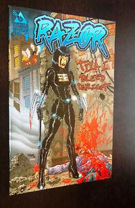 RAZOR TILL I BLEED DAYLIGHT #1 (Avatar Press 2000) -- Tim Vigil Cover -- VF+