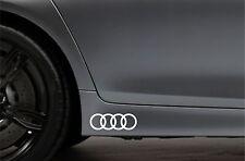 2x Side Skirt Stickers fits Audi Logo Rings JDM Bodywork Car Decal Sticker VK111