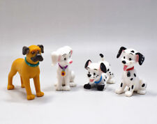 Set 4PCS of Disney 101 102 Dalmatians Oddball White and Growling Dog Figure Toy