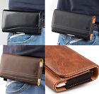 For Motorola Moto Z4 - Horizontal Leather Pouch Holder Belt Clip Holster Case