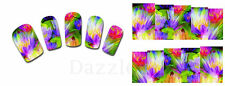 Nail Art Stickers Water Decals Transfers Flowers (XF1412)