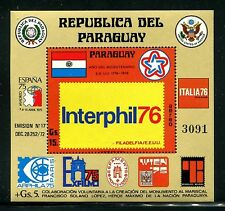 Paraguay C439, MNH, 1976 EXPO INTERPHILA 76  Flag Coat of arms  x20491
