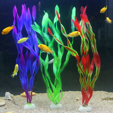 Artificial Grass Aquarium Ornament Water Plant Green Large for Fish Tank Decor