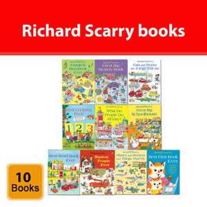 Richard Scarry's Best Collection Ever! 10 Books Collection Set Children's pack