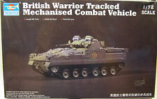 TRUMPETER 1:72 SCALE BRITISH WARRIOR TRACKED COMBAT VEHICLE PLASTIC MODEL KIT