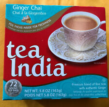 Tea India Ginger Chai 72 Round Tea Bags Free SHIPPING FROM USA!