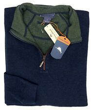 NWT Tommy Bahama 1/4 Zip Reversible Blue Green Sweater Mens Size LT XLT 2XT NEW