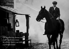 "Peaky Blinders,""Tommy On Horse"", Red Right Hand Poster, Black & White"