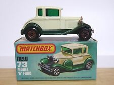 Matchbox Lesney No.73e Ford Model A Sedan In Type 'L' Box (SPARE WHEEL VERSION)