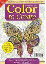 COLOR TO CREATE,  RELAX & DE-STRESS WITH COLORING ART THERAPY  MAY / JUNE, 2016