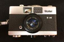 Rollei B 35 Classic Vintage Miniature 35 mm Camera & Lens Cover dans étui d'origine