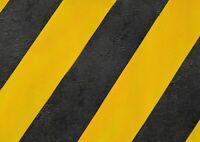 A1 Black Yellow Hazard Tape Poster Art Print 60 x 90cm 180gsm Cool Gift #14616