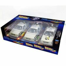 Welly 1:24 WL224003 BTTF Back to the Future Delorean voiture 1, 2, 3 Trilogy Set