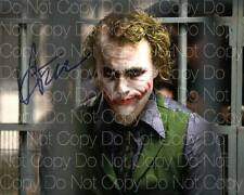 The Dark Knight Joker poster signed Ledger 8X10 photo picture autograph RP 5