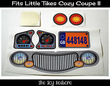 New Replacement Decals Stickers for Little Tikes Tykes Cozy Coupe II Car UK