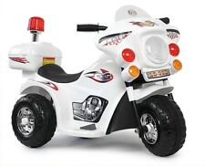 Kindermotorrad Elektromotorrad Polizei Kinder Elektro Motorrad Weiß NEU (LQ 998)