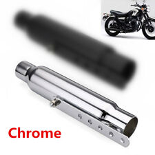 32cm Motorcycle Exhaust Pipe Chrome Muffler Tube Bike Custom Retrofit Universal