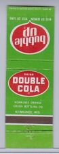 Double Cola Matchbook Cover Fair Condition