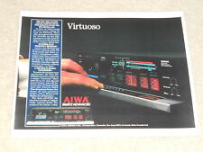 Aiwa AD-F990 Ultimate Cassette Deck Ad, 1 page, Article, 1984