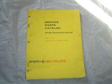 New Holland 845 Round Baler Parts Catalog Manual Book