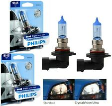 Philips Crystal Vision Ultra H10 9145 45W Two Bulbs Fog Light Replace Upgrade OE