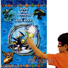 SKYLANDERS PARTY GAME POSTER ~ Birthday Supplies Decorations Plastic Activity