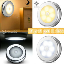6-LED Motion Sensor Lights PIR Wireless Night Light Battery Cabinet Stair Lamp