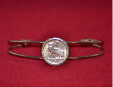 Irish hare 3d coin bracelet / bangle with box