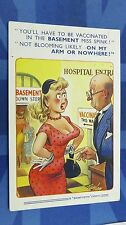 Bamforth Comic Postcard 1950s Blonde Large Boobs HOSPITAL VACCINATION Theme