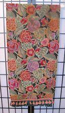 Tapisserie Tapestry by Renaissance Woven Art Floral Cotton Table Runner Tassles