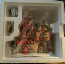 Dept 56 glass ornament works in box building  north pole series village xmas